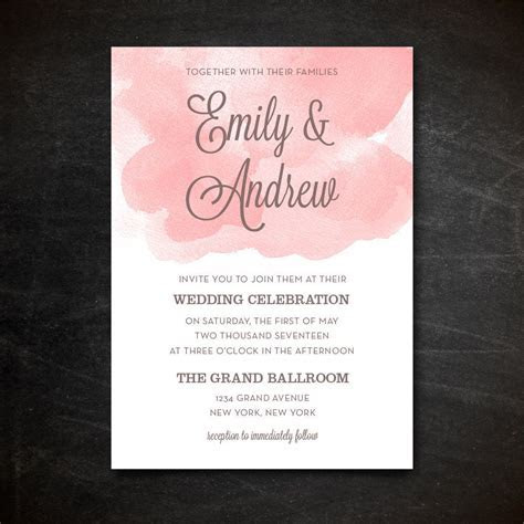 Wedding Invitation Template   Printable Wedding Invitation