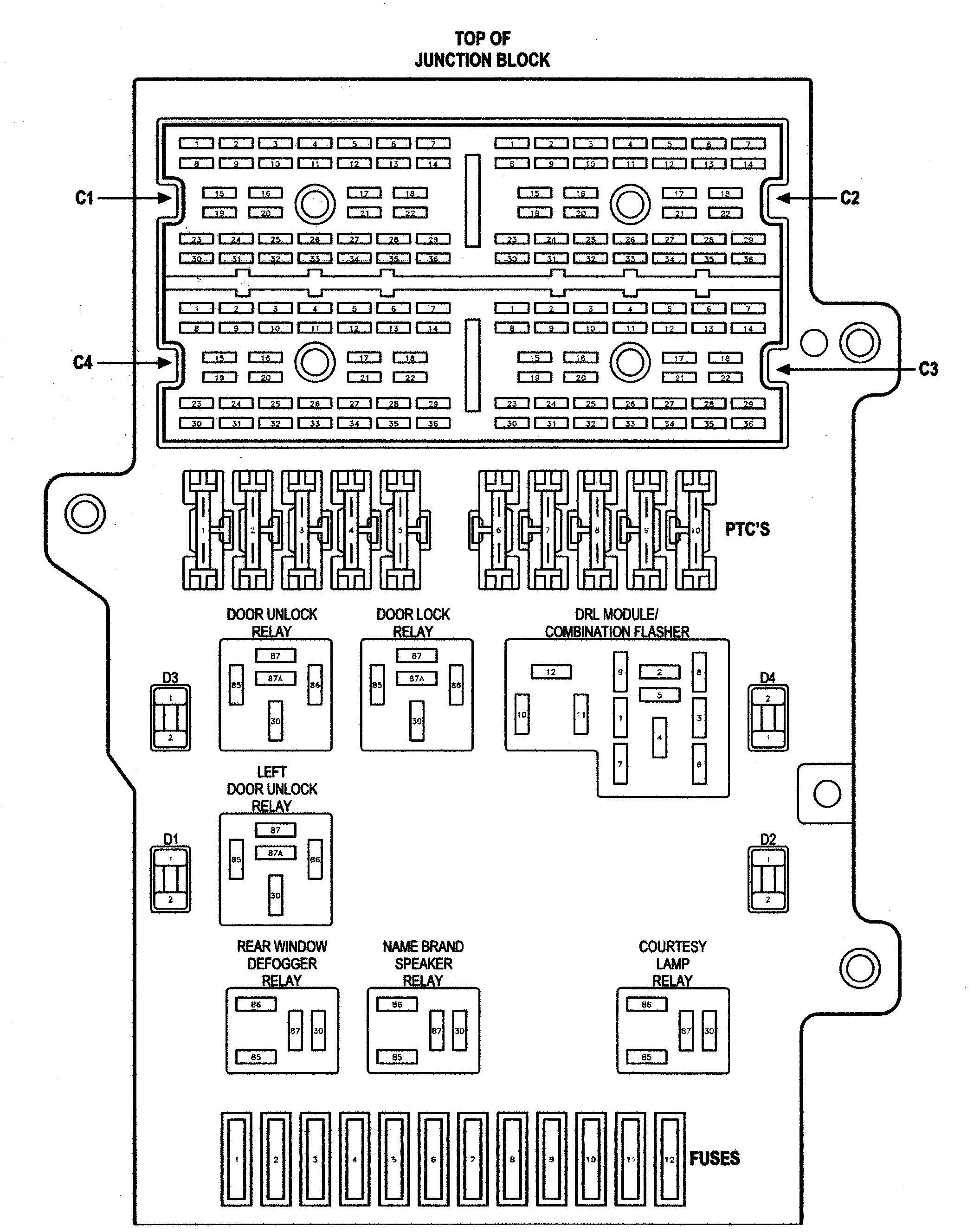 2000 Chrysler 300m Fuse Box Diagram Wiring Diagram Frankmotors Es