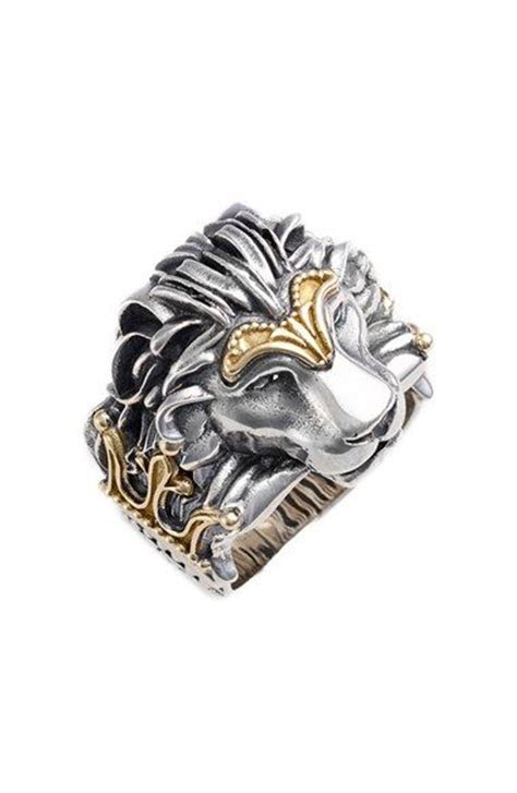 25  best ideas about Lion Ring on Pinterest   Unique mens
