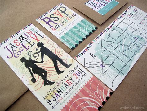 25 Creative and unusual Wedding Invitation Card Design