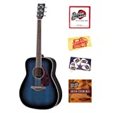 Yamaha FG720S Folk Acoustic Guitar Bundle with Instructional DVD, Strings, Pick Card, and Polishing Cloth - Ocean...