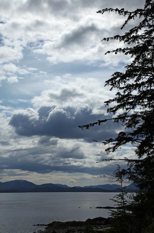 late afternoon clouds over Kasaan Bay, Kasaan, Alaska