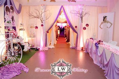 Han Chiang School Hall , Penang. Purple theme wedding