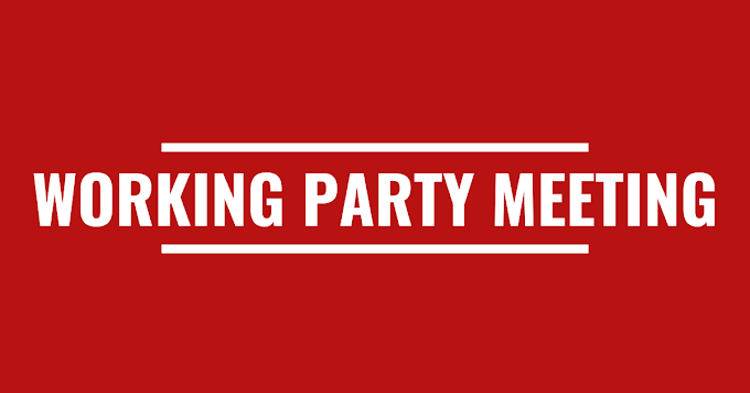 Working Party Meeting: Monday, 7th September 2020