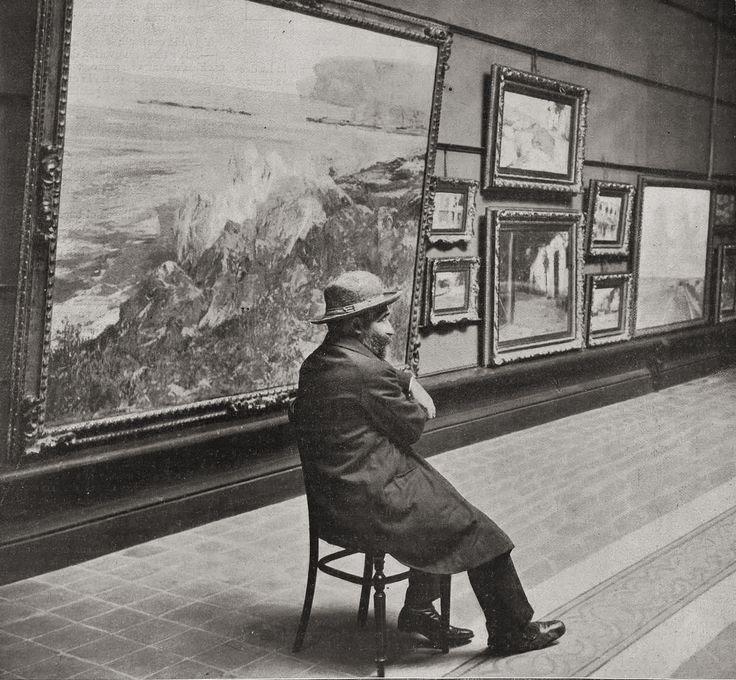 Eliseo Meifrén en la Sala Parés de Barcelona, noviembre de 1912.