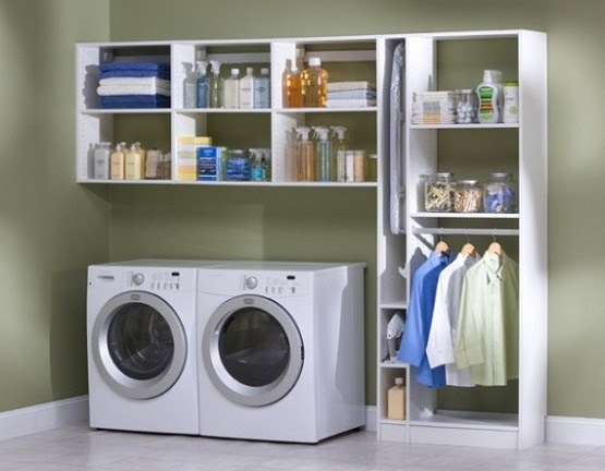 Simple small laundry room organization ideas | Home Interiors