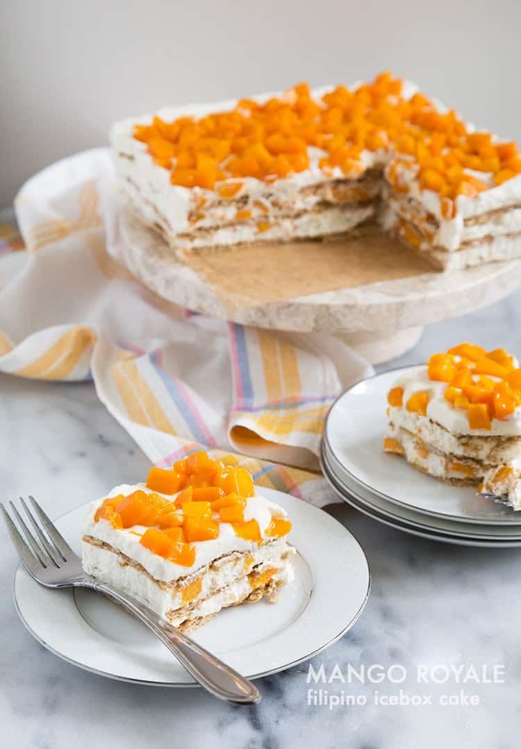 Mango Royale (Filipino Icebox Cake)-The Little Epicurean