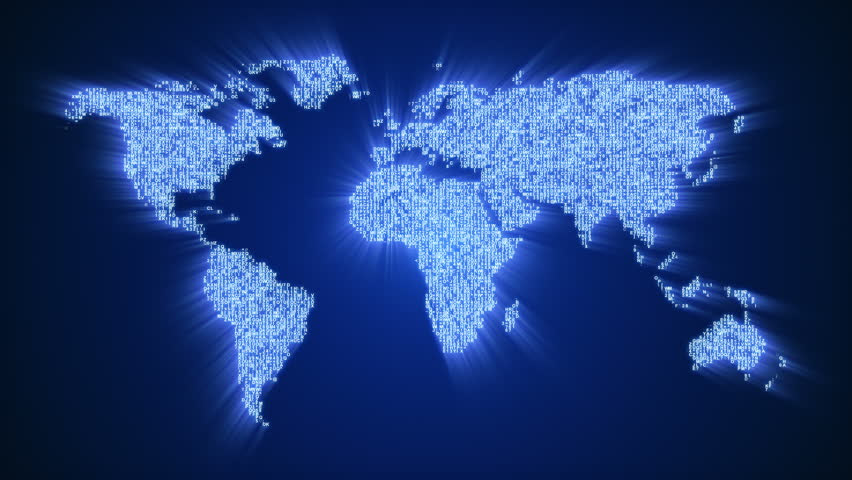 4K Global Network, World Map Animation. (version With The ...