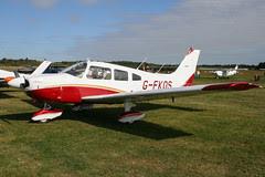 G-FKOS - 1977 build Piper PA-28-181 Cherokee Archer II, visiting Turweston