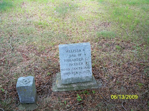 Tombstone of Melissa B. Parker