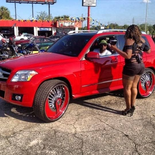 Ace 1 Red Mercedes Benz Glk 350 On 26 Quot Dub Azzmacka Floaters