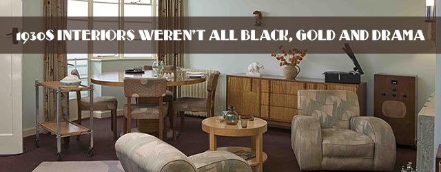 1930s Interiors Weren T All Black Gold And Drama
