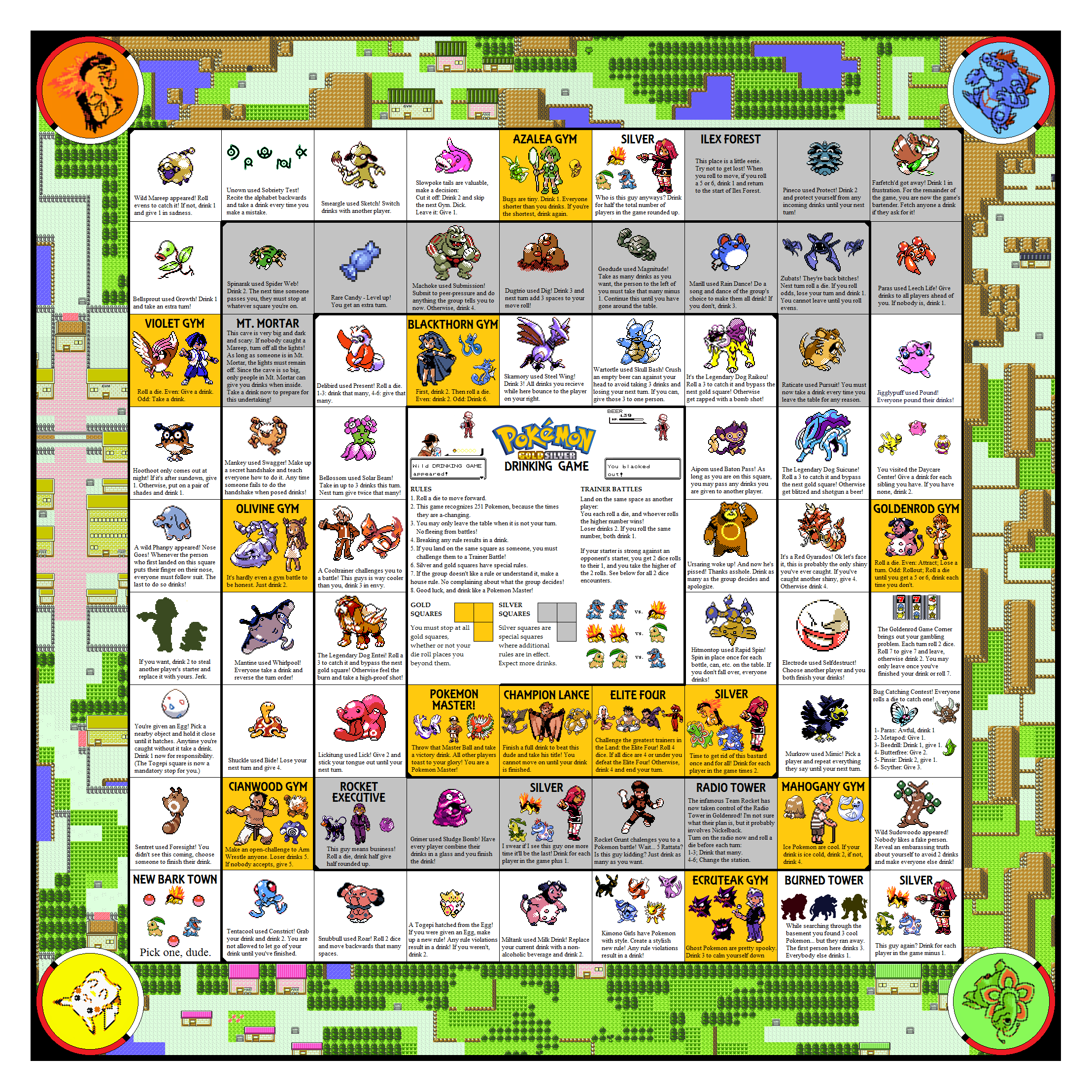 The Pokemon Drinking Game GoldSilver Edition