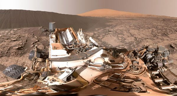 A 360-degree view of Namib Dune on Mars...taken by NASA's Curiosity rover on December 18, 2015.