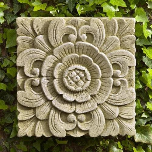 Campania International Square Eden Cast Stone Outdoor Wall Art ...