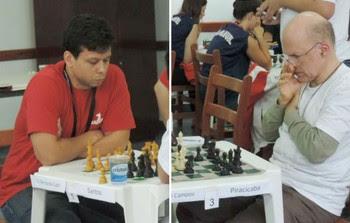 Rafael Leitão e Henrique Mecking, o Mequinho, nos Jogos Abertos 2014 (Foto: Ana Carolina Levorato)