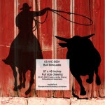 Bull Running Silhouette Yard Art Woodworking Pattern - fee plans from WoodworkersWorkshop® Online Store - cowboys,rodeo,steer tripping,,ranchers,cowhands,cattleman,yard art,painting wood crafts,drawings,plywood,plywoodworking plans,woodworkers projects,workshop blueprints
