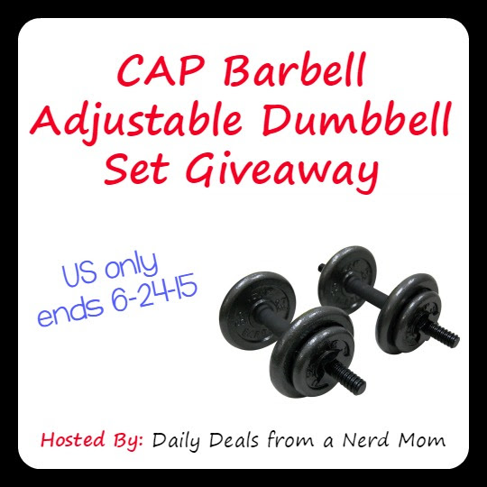 CAP Barbell Adjustable Dumbbell Set Giveaway {US, ends 6/24}