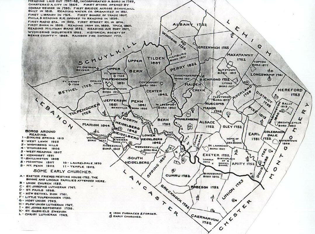 Berks County Pennsylvania Maps 1878