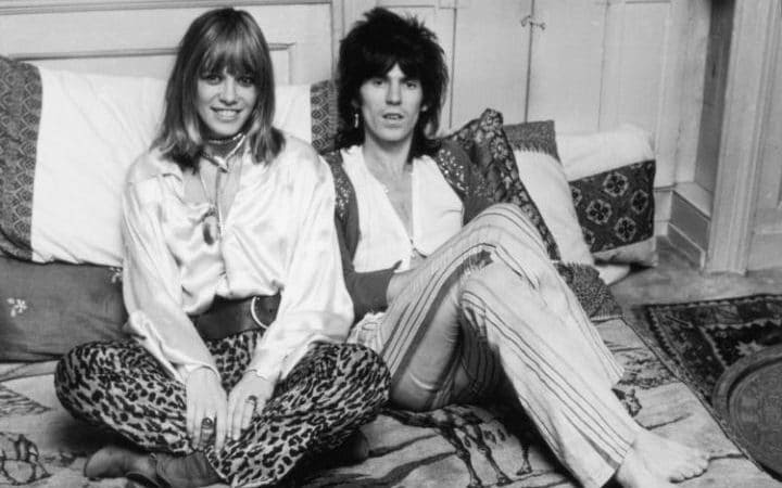 Anita Pallenberg with Keith Richards
