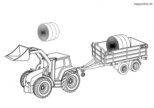 traktor zeichnungen zum ausmalen