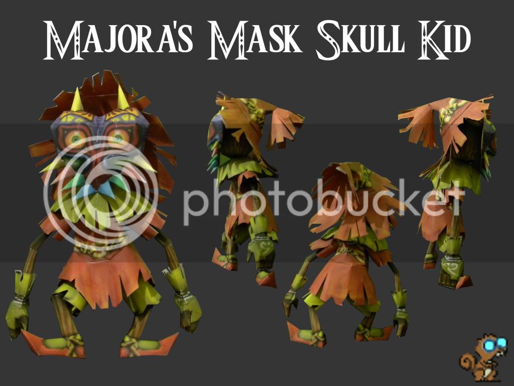 Majora's Mask Skull Kid Papercraft