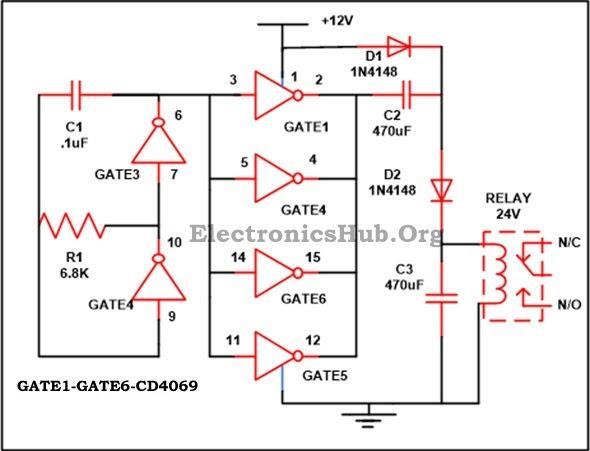 12vdc To 24vdc Converter Circuit Diagram Wiring Diagram