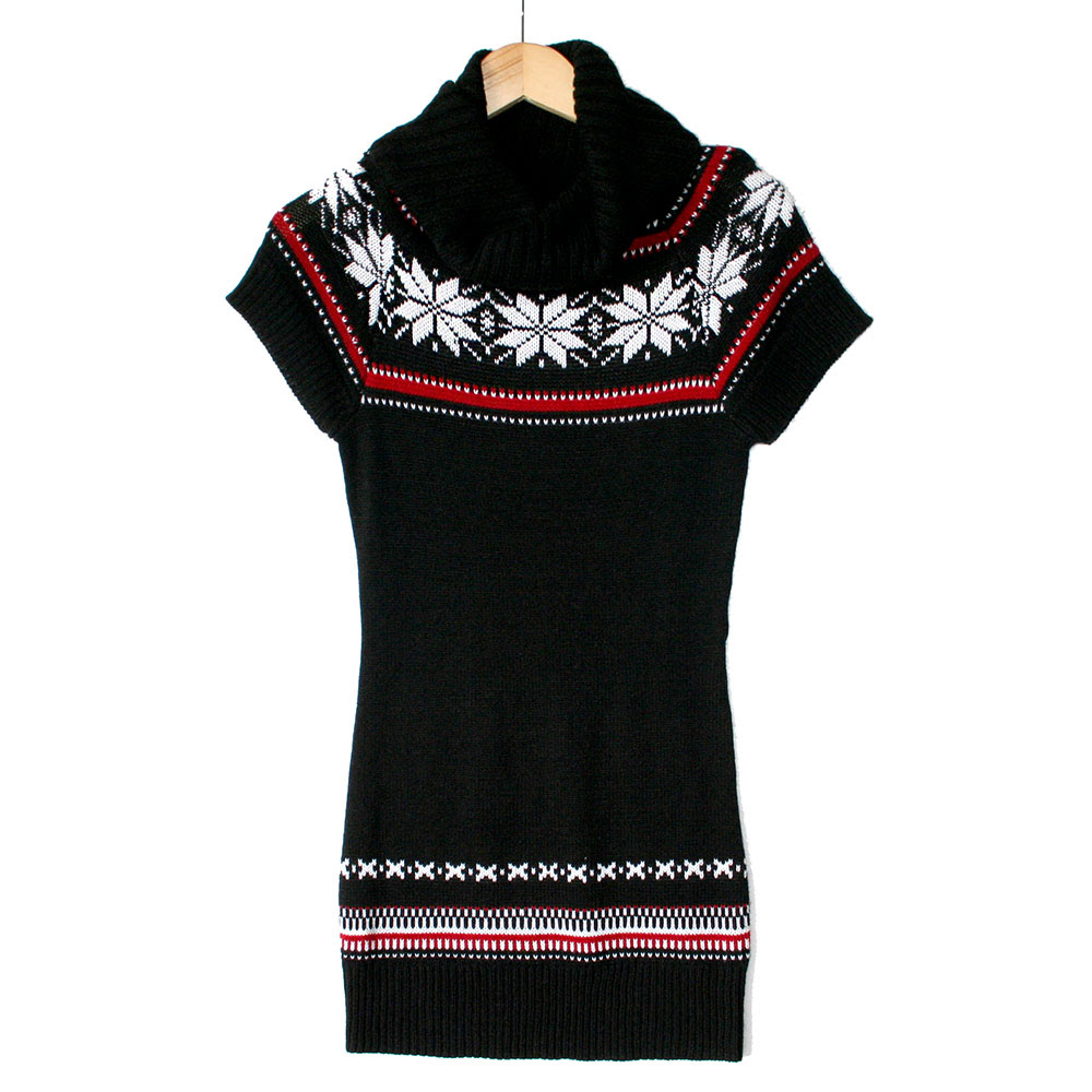 nordic snowflakes tacky ugly christmas sweater dress