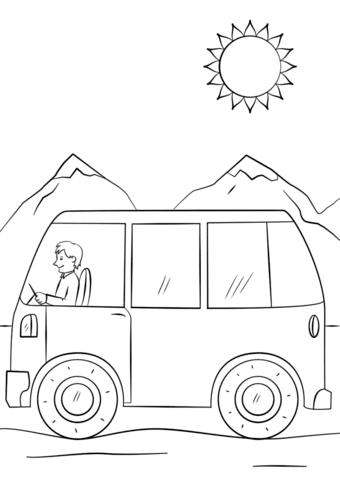 Dibujo De Autobús De Dibujos Animados Para Colorear Dibujos Para