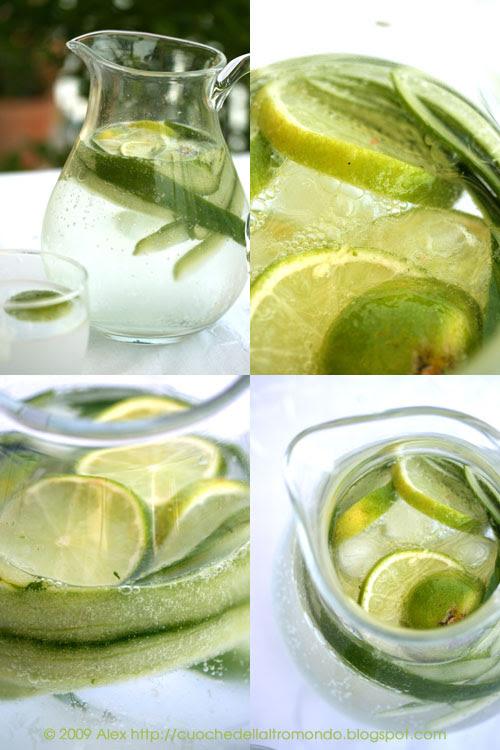 Acqua, lime e cetrioli