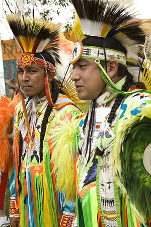 Native American dancers at New Orleans Jazz Fest