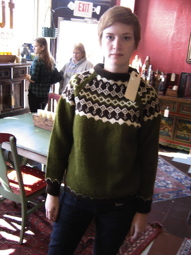 katie in the sweater