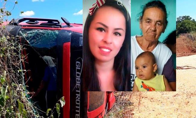 Tragédia: Mãe, filha e neto morrem em colisão com carreta. Veja vídeos