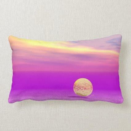 Adrift, Abstract Gold Violet Ocean Throw Pillows