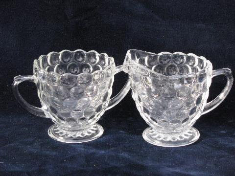 bubble pattern, depression pressed glass dishes lot ...