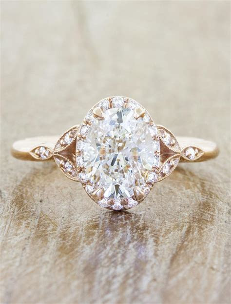 Rachael: Oval Diamond Rose Gold Engagement Ring   Ken