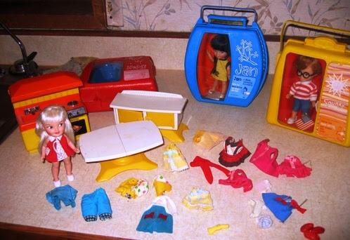 Heidi has lots of clothes, furniture, etc.