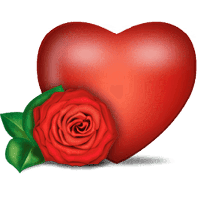 Rose Heart Transparent Png Stickpng