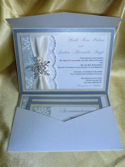 17 Best ideas about Winter Wedding Invitations on