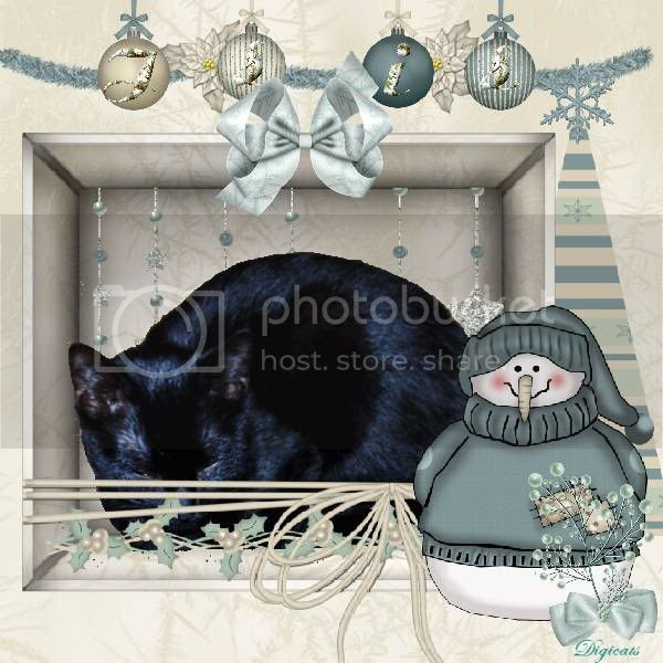 House Panther,Domestic Cat,Snowman,Holly Daze,Happy Holidays