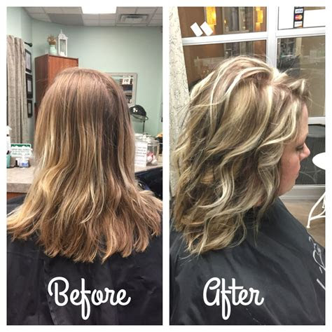 chunky blonde  brown highlight lowlight