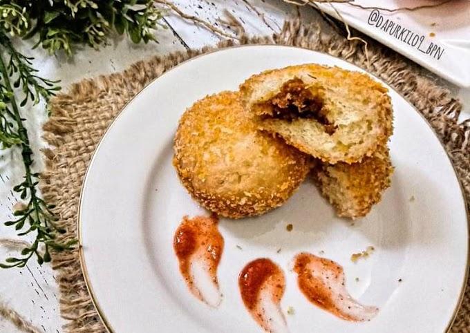 Resep Mudah Roti goreng isi abon ayam Gampang Banget
