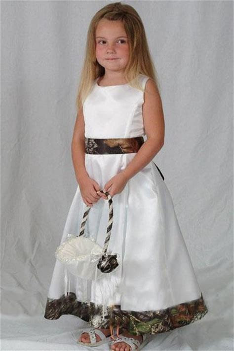 2016 Realtree Camo Flower Girl Dresses For Wedding Party