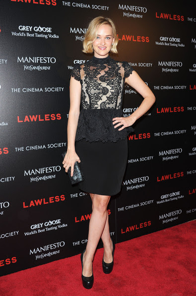"Jess Weixler - The Cinema Society & Manifesto Yves Saint Laurent Host A Screening Of The Weinstein Company's ""Lawless"" - Arrivals"