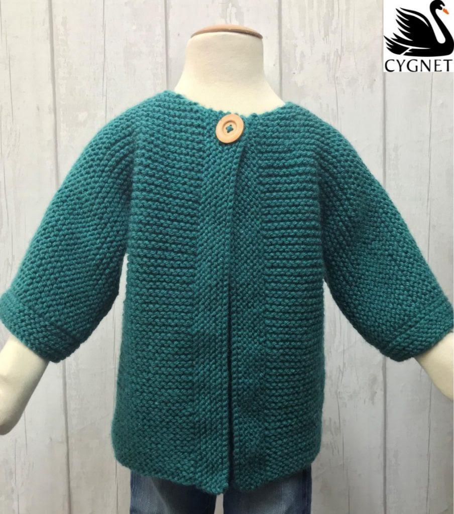Pattern beginners for cardigan kids easy knit