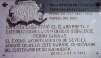 Imagen de Placa: Residencia de Pedro Salinas