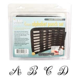 Letter Stamps - Spiral Uppercase Punch 27 Piece Set with Case 4MM) In Stock