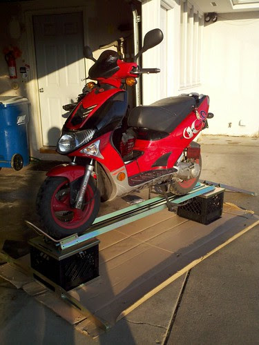 Motorcycle stand with super9