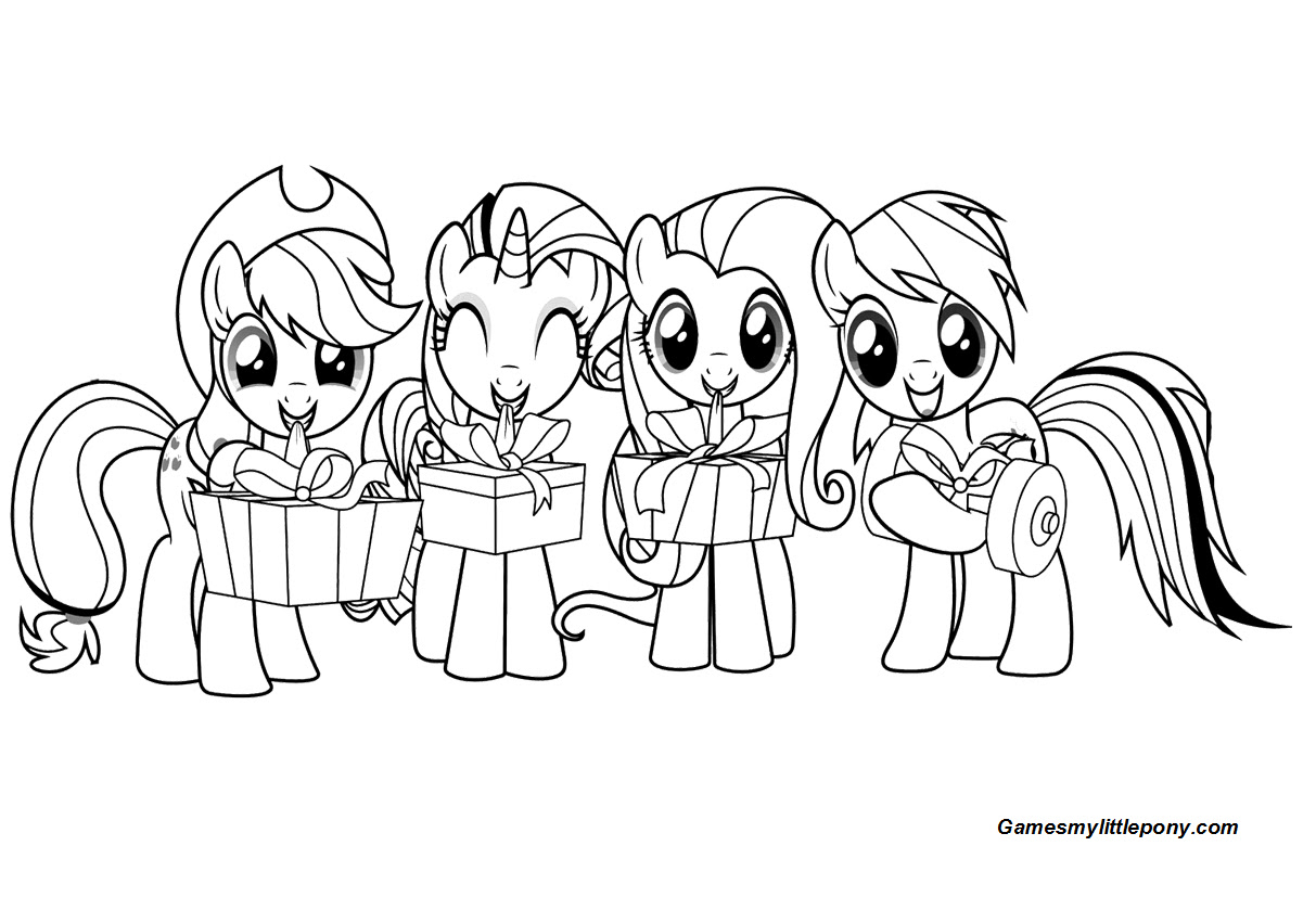 Cute My Little Pony With Gifts Coloring Page - My Little ...