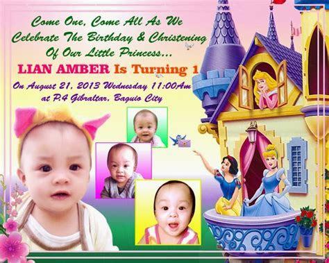 Free Invitation & Birthday for Tarpaulin Cinderella PSD